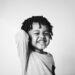 cheerful black boy